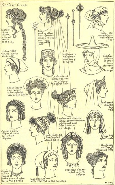 Ancient Greek Hairstyle 1